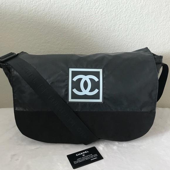6b0526d99428ff CHANEL Handbags - Chanel CC Sport Line Black Nylon Messenger Bag